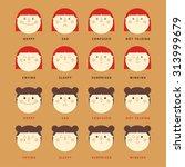 girl emotions | Shutterstock .eps vector #313999679