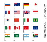 Flags Icons Set. Simple Vector...