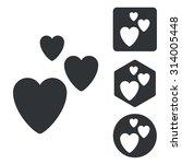 love icon set  monochrome ...