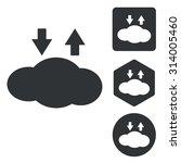 cloud exchange icon set ...