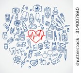 health care doodle icons... | Shutterstock .eps vector #314007860