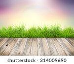wood floor top on abstract... | Shutterstock . vector #314009690