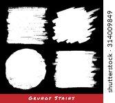 set of white hand drawn grunge...   Shutterstock . vector #314009849