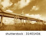 industrial pipelines on pipe... | Shutterstock . vector #31401436