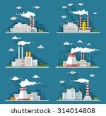 Industrial Landscape Set. The...