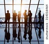 businesspeople in office... | Shutterstock . vector #314016464