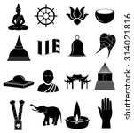 buddhism icons set | Shutterstock .eps vector #314021816