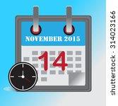 flat design concept calendar... | Shutterstock .eps vector #314023166