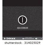 video player error | Shutterstock .eps vector #314025029