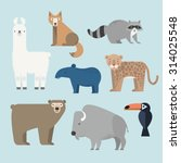 Vector Set Wild Animals Icons....