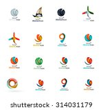 set of abstract travel logo... | Shutterstock .eps vector #314031179