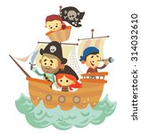 pirate ship | Shutterstock .eps vector #314032610