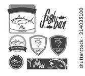 fish logo template  simple...   Shutterstock .eps vector #314035100