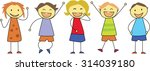 happy children smiling   kids... | Shutterstock .eps vector #314039180