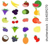 set of fresh fruits. vector... | Shutterstock .eps vector #314039270