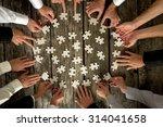 teamwork concept   high angle... | Shutterstock . vector #314041658