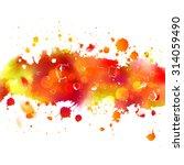 watercolor drawing orange... | Shutterstock .eps vector #314059490