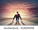 young determined businessman... | Shutterstock . vector #314059496