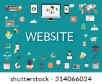 word website surrounded by... | Shutterstock .eps vector #314066024