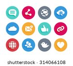 internet and social icons in... | Shutterstock .eps vector #314066108