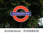London Underground Station Sign