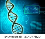 dna structure converted into...   Shutterstock . vector #314077820