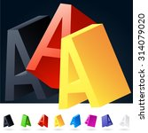 3d vector elegant alphabet of... | Shutterstock .eps vector #314079020