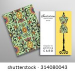 invitations or cards with... | Shutterstock .eps vector #314080043