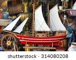 Old Wooden Sail Ship Model At...