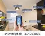 remote home control system on a ... | Shutterstock . vector #314082038