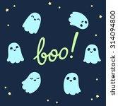 halloween background. set of... | Shutterstock .eps vector #314094800