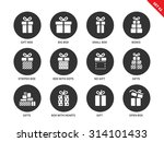 gift boxes vector icons set.... | Shutterstock .eps vector #314101433