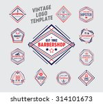 vintage logo template. elegant... | Shutterstock .eps vector #314101673