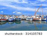 traditional sail boats inside... | Shutterstock . vector #314105783