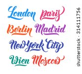 different city names hand... | Shutterstock .eps vector #314111756