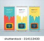 roll up banner stand design... | Shutterstock .eps vector #314113430