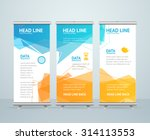 roll up banner stand design... | Shutterstock .eps vector #314113553