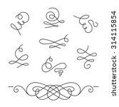 set of calligraphic swirls and... | Shutterstock .eps vector #314115854