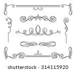 vintage calligraphic vignettes... | Shutterstock .eps vector #314115920