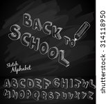 back to school background to... | Shutterstock . vector #314118950
