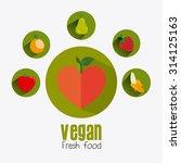 vegan food design  vector... | Shutterstock .eps vector #314125163