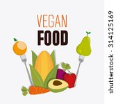 vegan food design  vector... | Shutterstock .eps vector #314125169