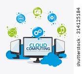 cloud computing design  vector... | Shutterstock .eps vector #314125184