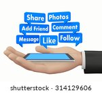 social media and tablet 3d... | Shutterstock . vector #314129606