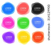 set of colorful vector banners... | Shutterstock .eps vector #314129900