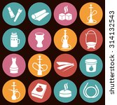 set of hookah icons. waterpipes ... | Shutterstock .eps vector #314132543