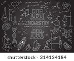 set of chemical equipment. hand ...   Shutterstock . vector #314134184