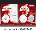 hot pizza flyer template  ... | Shutterstock .eps vector #314137430