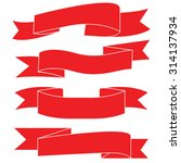 red ribbons  label banner vector | Shutterstock .eps vector #314137934