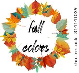 autumn design wreath of... | Shutterstock .eps vector #314141039